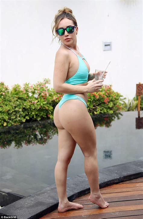 fishing boat ashley nicole lauryn goodman flaunts le assets in bikini in maldives