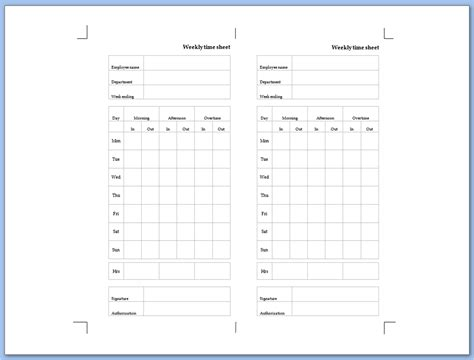 Weekly Time Sheet Template by Search Results For Printable Bi Weekly Time Sheets