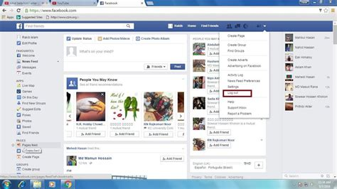 fb logout how to log out a facebook account how do i sign out my