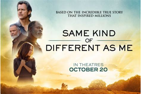 movie same kind of different as me in theater october 20th