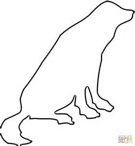 outline coloring black lab coloring pages