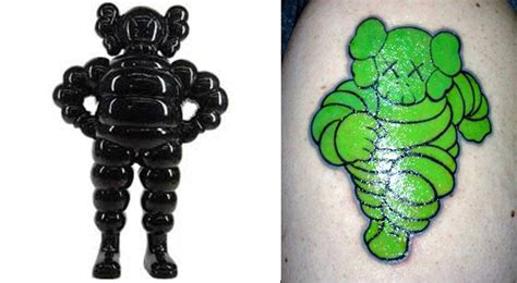kaws tattoo 100 tattoos inspired by and toys