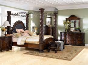 bring luxury to your home with a canopy bedroom set