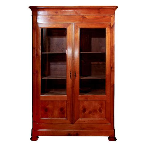 cherry wood bookcase at 1stdibs
