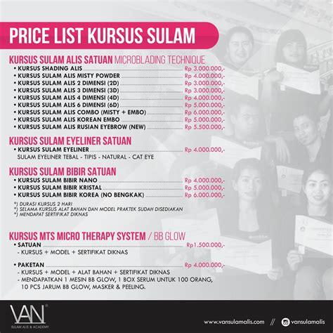 Harga Vans Di Jakarta harga sulam alis academy