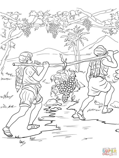 Joshua And The Promised Land Coloring Page Coloring Home Land Coloring Pages