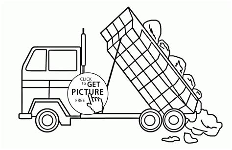 printable truck coloring pages tonka dump truck coloring