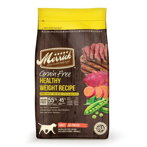merrick grain free food merrick grain free healthy weight food 4 lb bag