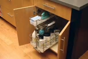 Kitchen Cabinet Storage Bins - cardinal kitchens amp baths storage solutions 101 sink storage