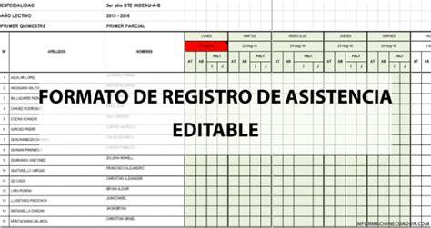 como hacer un registro auxiliar de asistencia en excel formato de registro de asistencia para estudiantes