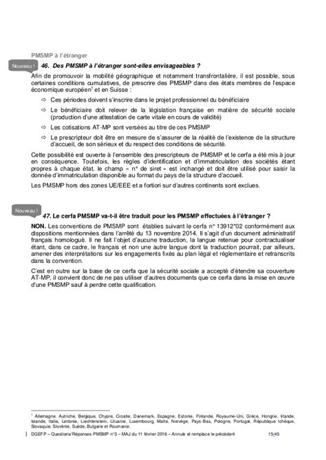 PMSMP : Question / Réponses n° 3 11-02-2016