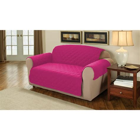 Pink Slipcover by Pink Quilted Cotton 2 Seater Sofa Furniture Protector