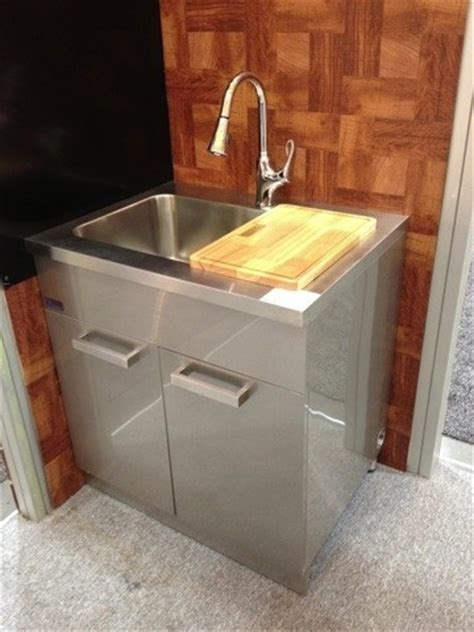 stainless steel kitchen sink cabinet dawn ssc3036 30 inch stainless steel sink cabinet modern
