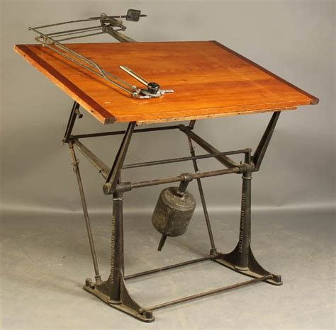 Architects Drafting Table 160 Mechanical Architect S Drafting Table C 1910 Lot 160