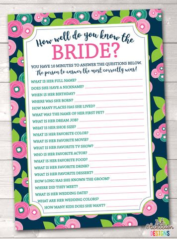 bridal shower how well do you the questions purple crosses how well do you the printable bridal shower erin bradley ink