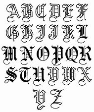 Old English Tattoo Letter Fonts Alphabet