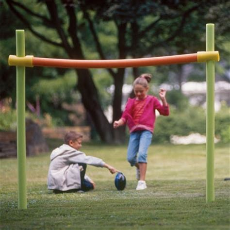 backyard football goal post games to play with pool noodles growing kids ministry