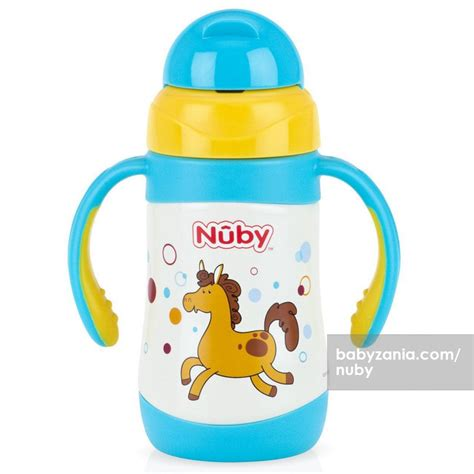 Botol Minum Bayi Nuby Insulated Stainless Steel Straw Bottle 280ml Jual Murah Nuby Insulated Stainless Steel Clik It 12m