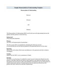 memorandum of understanding template in word and pdf formats