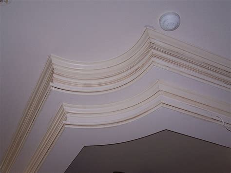 crown molding drop ceiling detailed look at two step crown moulding on curved drop