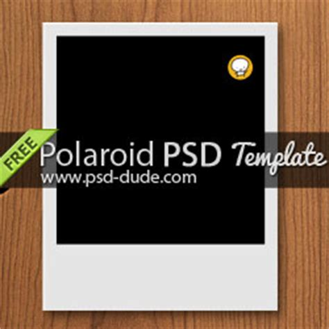 polaroid free psd template psddude