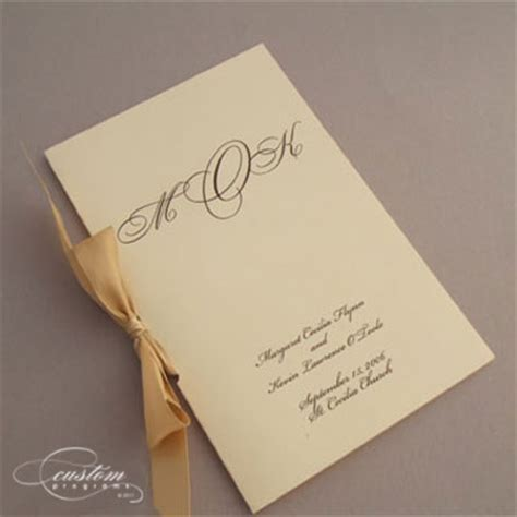 Wedding Program Book Cover by Booklet Programs