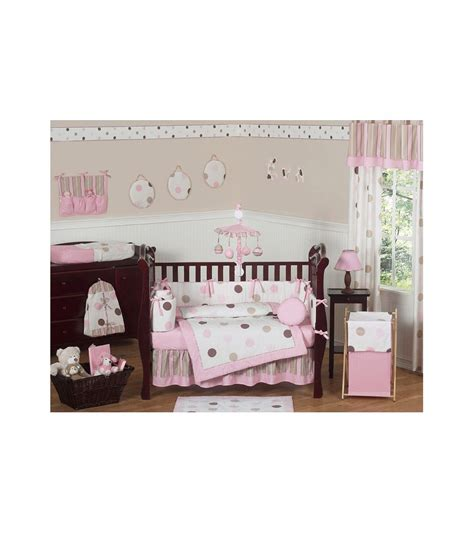 sweet jojo baby bedding sweet jojo designs mod dots pink 9 piece crib bedding set