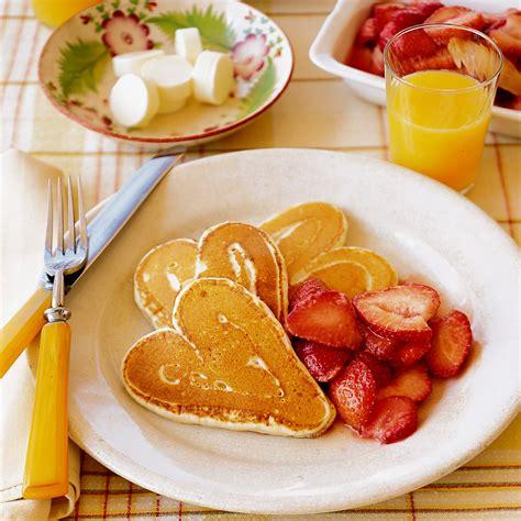 Heart Pancakes Recipe   Martha Stewart