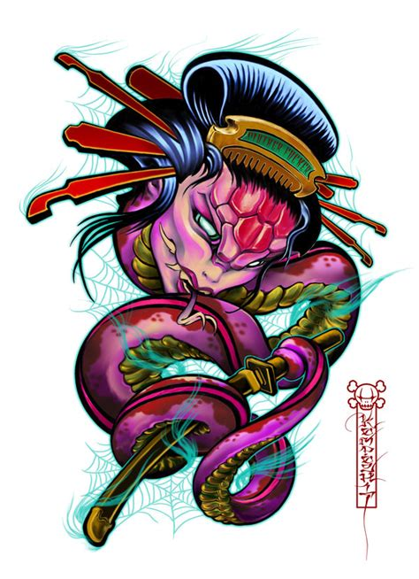 geisha snake by quidamz on deviantart