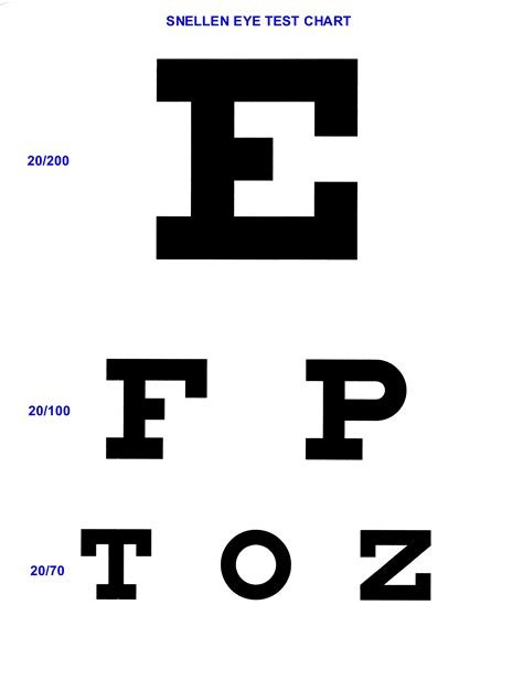 printable eye chart 20 15 eyecharts to test and improve close and distant eyesight
