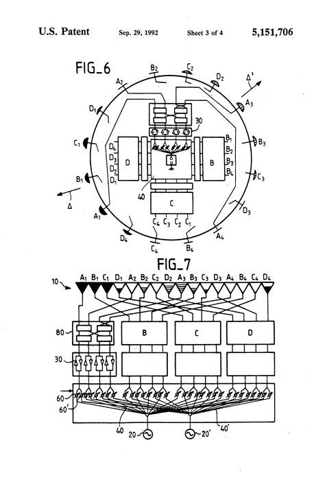 sketch radiation pattern patent us5151706 apparatus for electronically