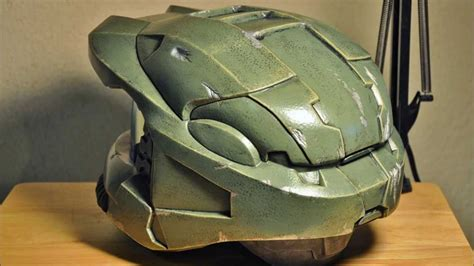 How To Make A Master Chief Helmet Out Of Paper - master chief helmet complete episode 03