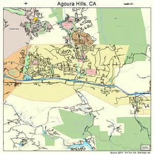agoura california map 0600394
