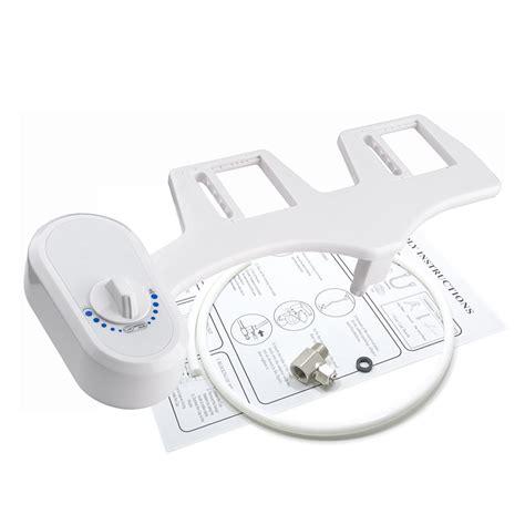 bidet toilet seat attachment dual nozzle water spray non electric bidet toilet seat