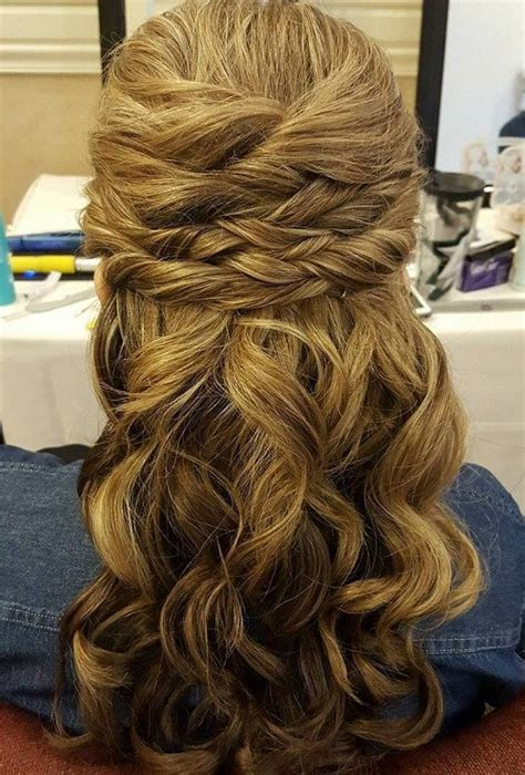 Wedding Hair Half Up Half To The Side by Half Up Half Wedding Hairstyles 50 Stylish Ideas