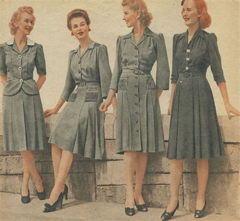 1940 s business clothes hair vintage day dresses s fashion