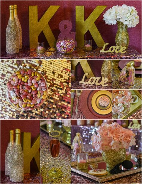 Wedding Theme Idea Pink And Gold Our One 5 by Pink And Gold Bridal Shower Ideas For Brides On A Budget