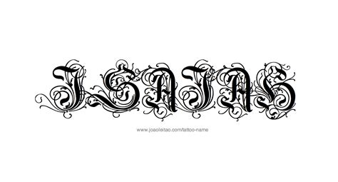 design a name tattoo isaiah name designs