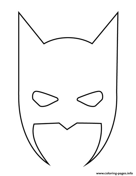 batman mask stencil coloring pages printable