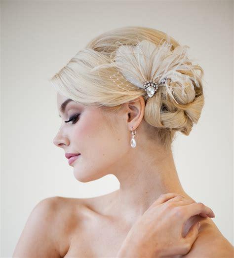 braut fascinator bridal fascinator wedding headpiece feather fascinator