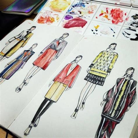 Fashionable Notebooks a5 fashion designer notebook marker sketchbook dotted line