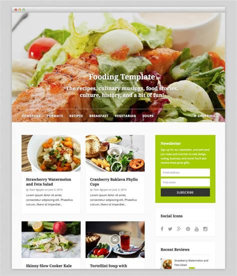 themes wordpress free food over 100 best responsive free wordpress themes for 2017