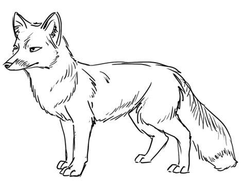 Fox Drawing Outline by Outline Drawing Line Drawing Painting Kindergarten Worksheet Guide Kindergarten