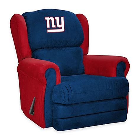 ny giants recliner nfl new york giants coach recliner bed bath beyond