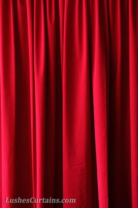 cherry red curtains cherry red 72 quot h velvet curtain panel w metal grommet top