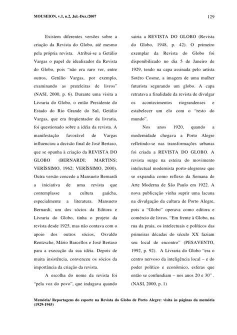 Reportagens do esporte na Revista do Globo de Porto Alegre