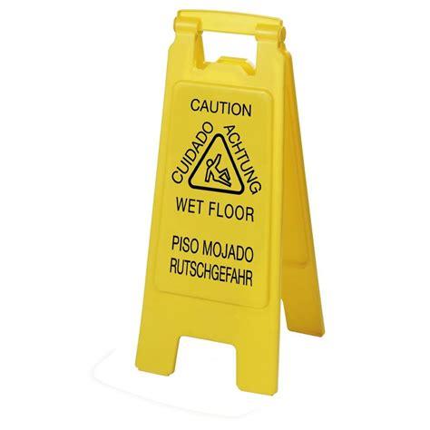 floor in spanish carlisle english spanish german yellow wet floor sign 6