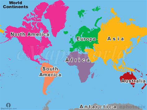continent maps world continents map continents map of world seven