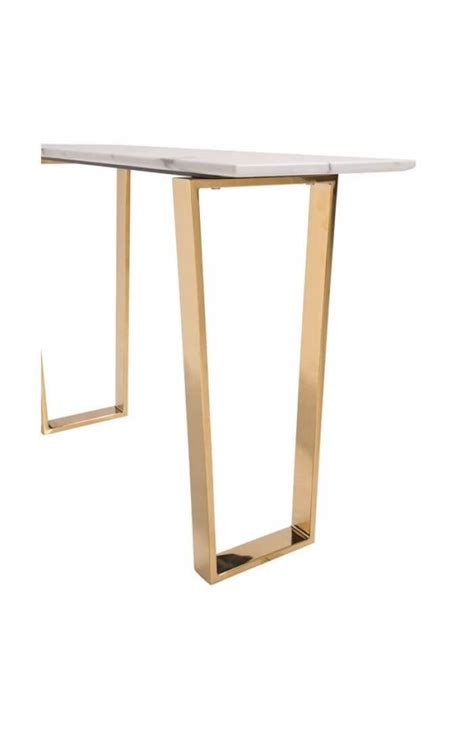 white and gold table white marble gold console table modern furniture