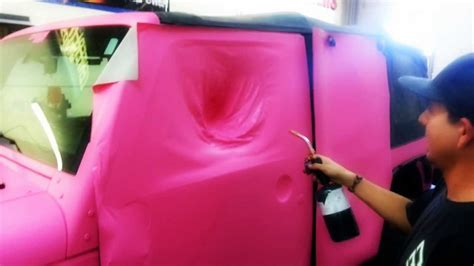 jeep matte pink 3m matte pink 1080 jeep wrap youtube